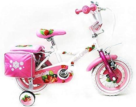 Reset - Bicicleta de niña New Hello Candy 14 Blanca Cesta incluida ...
