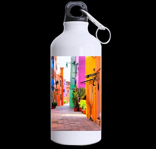 Beautiful Italy Streets DIY Personalized Custom Sport Water Bottle Travel Cup Design Your Own Nice Gift Art Prints Twin Sides by CustomLittleHome
