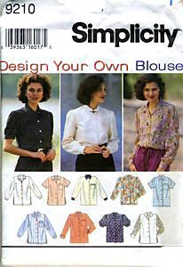 Simplicity Sewing Pattern 9210 Misses product image