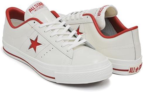 ONE STAR J [ワンスター メイド イン ジャパン 日本製] WHITE/RED 32346512