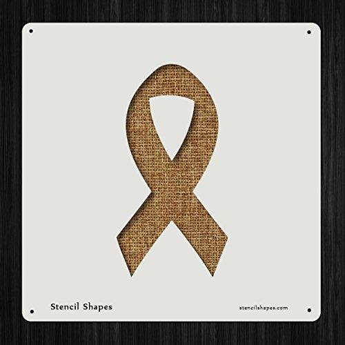 Ribbon Awareness Breast Cancer Style 18051 DIY Plastic Stencil Acrylic Mylar - Ribbon Stencil
