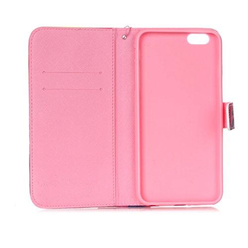 Trumpshop Smartphone Carcasa Funda Protección para Apple iPhone 6/6s Plus 5.5 + Hadas + PU Cuero Caja Protector con Ranuras para Tarjetas Choque Absorción Hadas