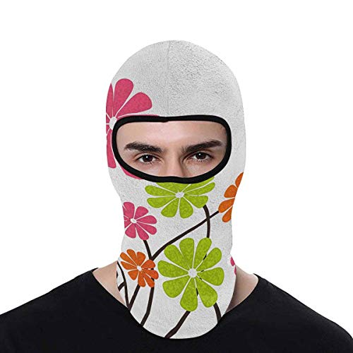 - INTERESTPRINT Vector Spring Background Ski Hiking Neck Hood Full Face Mask Cover, Quick-Dry Sport Balaclavas