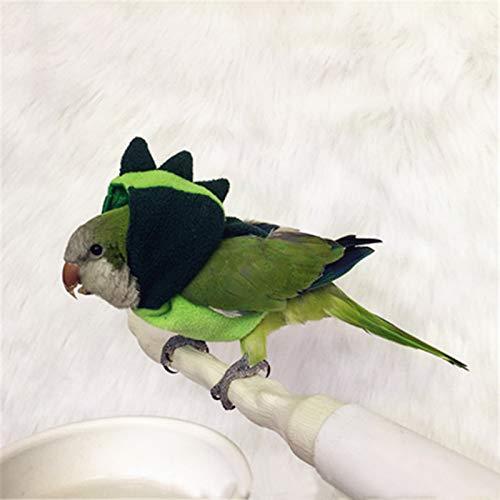 CYZB Fashion Bird Hoodie, Bird Clothes, Parrot Clothes (Green)