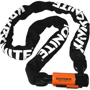 Kryptonite Evolution Series 4 1016 Integrated Chain Lock Black/Orange, 160cm (Best Bike Chain Lock 2019)
