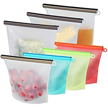 Amazon Com Yawenner Reusable Silicone Food Storage Bag 8