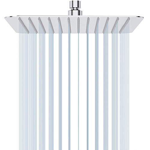 12 Inch Rain Shower Head, STrighter Large Stainless Steel Square Showerhead, High Pressure Rainfall Ultra Thin Design-Best Waterfall Shower heads Full Body Coverage Easy to Clean and Install