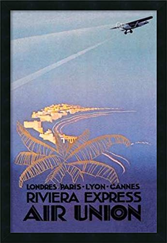 Framed Canvas Wall Art Print | Home Wall Decor Canvas Art | Riviera Express Air Union by E. Maurus | Modern Decor | Stretched Canvas Prints