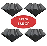Acoustic Foam Bass trap 12'' x 8'' x 8'' (4 PACK) - ROOMSONIC