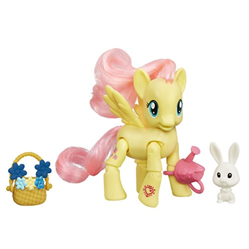 My Little Pony Friendship is Magic Flutter Shy Flower Picking Poseable Pony Toy (Shy Flower)