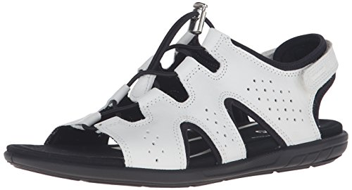 Ecco Donna Womens Bluma Toggle Sandalo Gladiatore Bianco