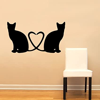 Cats Heart Love Cute Wall Decal Sticker Home Decoration Decor - Other Products - Amazon.com