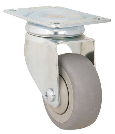 E.R. Wagner Caster, Light Medium Duty, Ball Bearing, Swivel, Type - Rubber, Cap.=110 lbs. (1 Each) - Light Medium Duty Casters