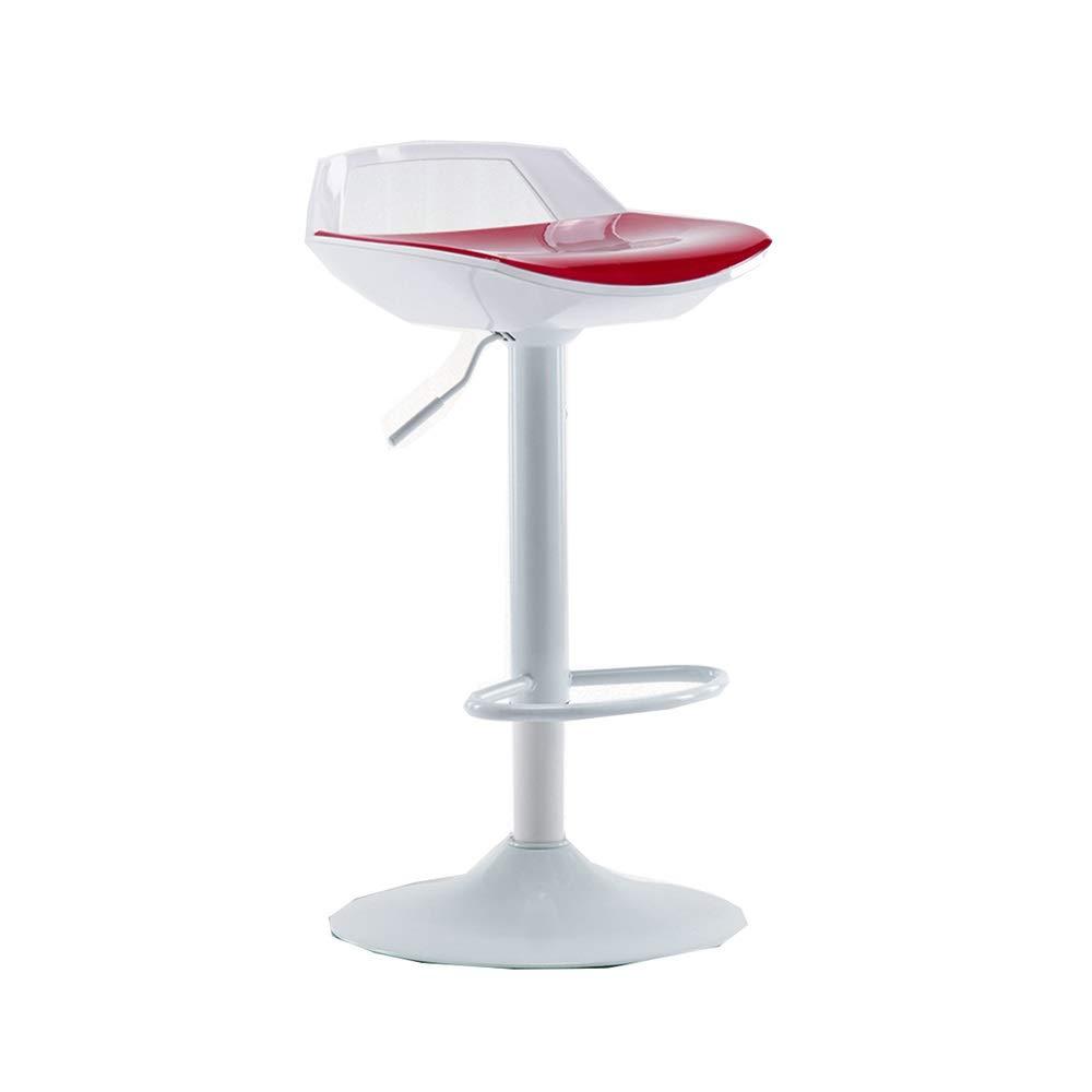 D DUXX Stool, Bar Chair Modern Minimalist Bar Chair Lift Chair Home High Stool Back Bar Chair Front Desk Stool (color   D)