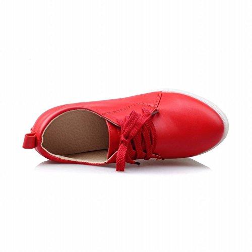 Piattaforma Di Moda Donna Latasa Allinterno Zeppa Tacco Alto Stringate Oxford Scarpe Rosse