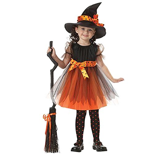 "Baysa Girls Fairytale Toddler Witch Costume (M height(41.3""-45.3"") (Hocus Pocus Witch Childrens Costume)"