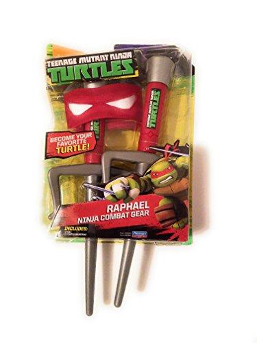 Ninja Turtle Dress Up Set (Teenage Mutant Ninja Turtles Raphael Ninja Combat Pretend Play Gear)