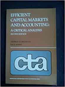 efficient capital markets a review of Efficient capital market is a market where the share prices reflect new information accurately and in real time capital market efficiency is judged by its success in incorporating and inducting information, generally about the basic value of securities, into the price of securities.