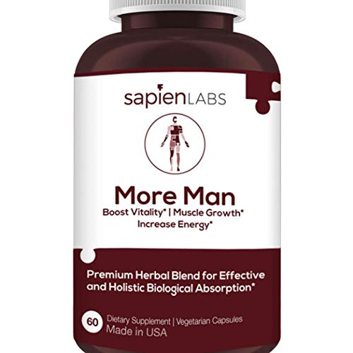Testosterone Booster for Men - Made in USA - Horny Goat Weed, Shilajit, Maca Root - Build Muscle, Calm Anxiety, Improve Vitality - Premium, Holistic Herbal Blend by Sapien Labs