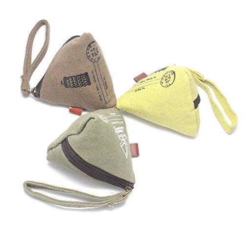 Homgaty Romantische Zeit Säckchen Reißverschluss Geldbörse Leinwand Kleingeld Münzfach Tasche