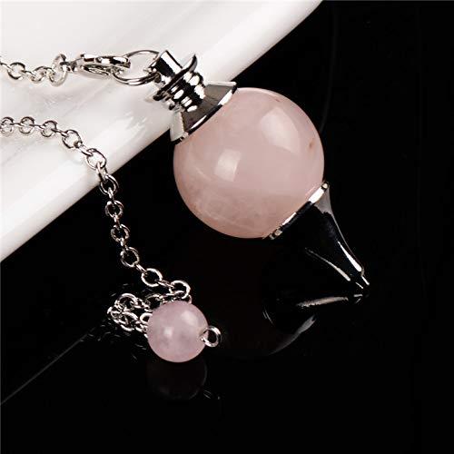 (Crystal Pendant | Bead End Free Pouch | Pendulum/Tiger Eye/Dowsing Round/Sphere/Crafts Chakra Healing)
