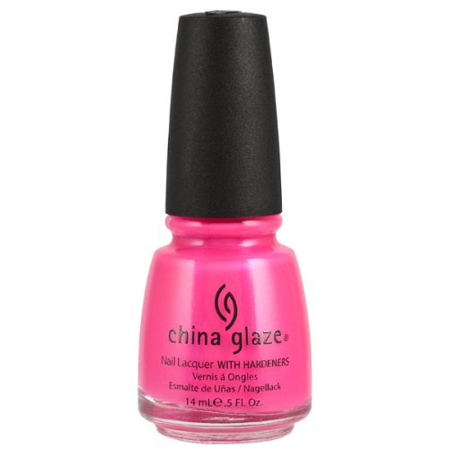 China Glaze Nail Care - CHINA GLAZE Nail Lacquer with Nail Hardner Pink Voltage Neon