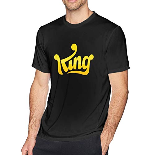 Men's Big Tall T-Shirt Printed King Crewneck Athletic Short Sleeve for Youth Adult S-6XL Black