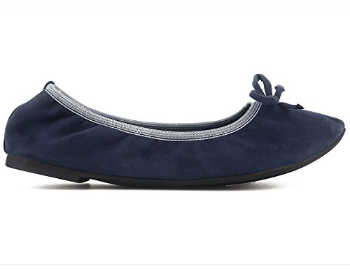 Ballerina Ballet Blue Women Shoes Greatonu Foldable Comfort Slip Flats On XFUfqZq0w