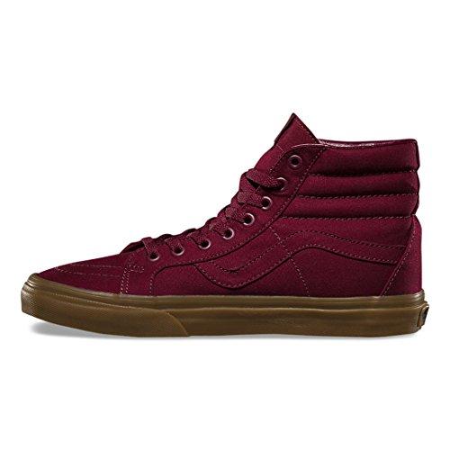 Sneakers Di Tela Gommata Di Tela Di Gomma Di Furgoni Sk8-hi (porta Royale / Gomma Leggera) Scarpe Alte