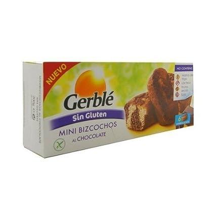 Galletas Mini Bizcochos Choco Sin Gluten 200 gr de Gerble ...