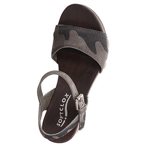 Delle Donne Softclox Grau Sandali I Modalità Sandali Di Modo 88q10xSr