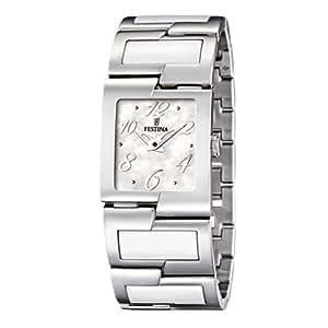 Festina F16535/1 - Reloj analógico de cuarzo para mujer con correa de acero inoxidable, color multicolor
