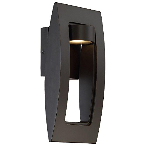 Avenue Lighting Oil Rubbed Bronze with Gold Highlights Outdoor LED Wall Mount Lantern