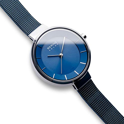 BERING Time 14631-307 Solar Collection Slim Watch with Mesh Strap and Scratch Resistant Sapphire Crystal. Designed in Denmark