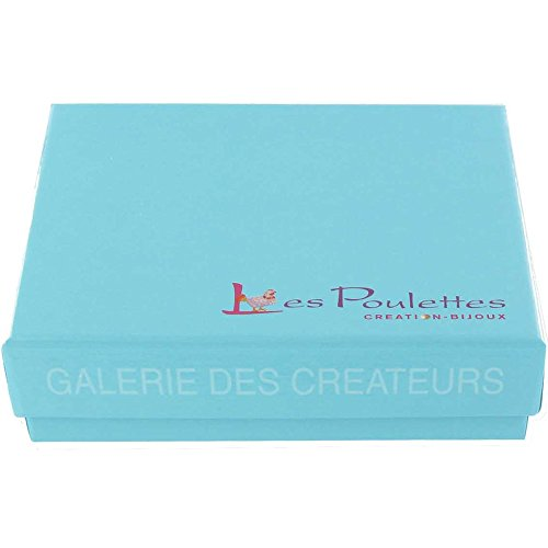 Les Poulettes Bijoux - V Boucles d'Oreilles Argent Spirale et Perle de Culture Grise Foncée - 11mm