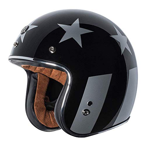 (TORC T-50 3/4 Retro Open Face Motorcycle Helmet With New Graphic (Captain Vegas-Medium))
