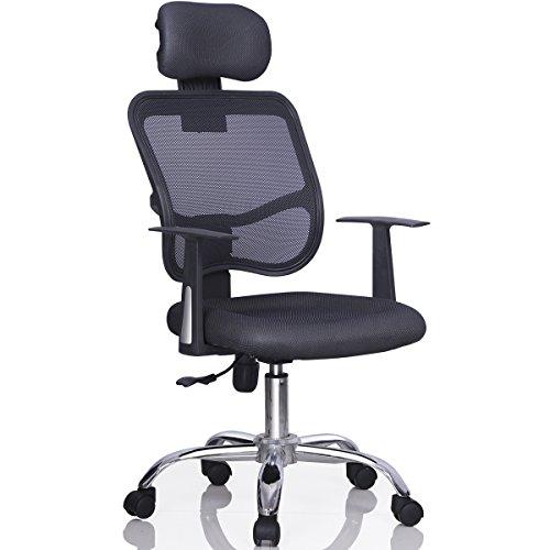 Yaheetech Mesh Chrome Adjustable Office Computer Desk Chair