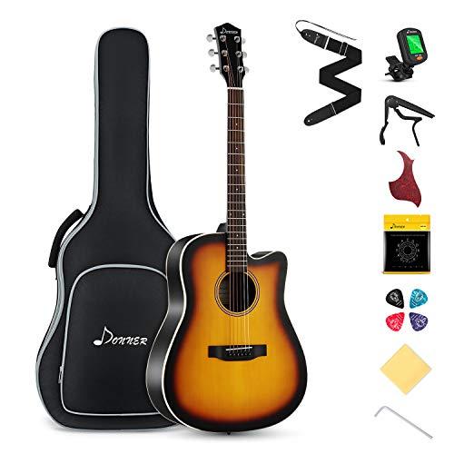 Donner Acoustic Guitar Kit for Beginner Adult Teen