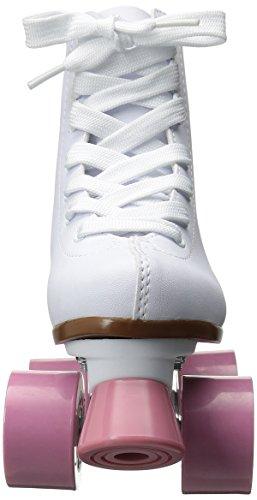Chicago Girl's Classic Roller Skates – White Rink Skates - Size 3