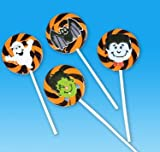 2 Inches Halloween Swirl Lollipops Dozen