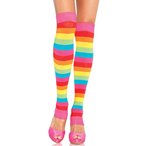 Leg Avenue Womens Rainbow Leg Warmers