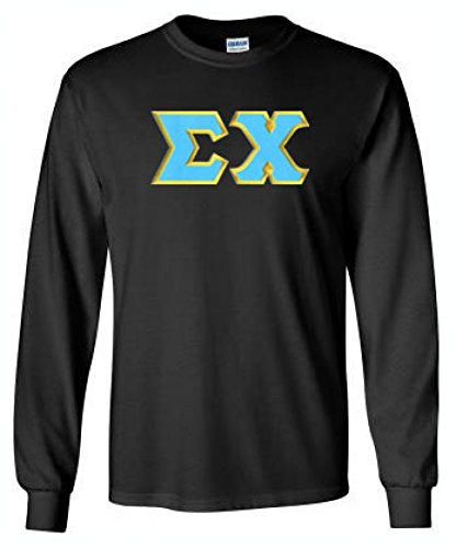 Express Design Group Sigma Chi Lettered Long Sleeve Small Black