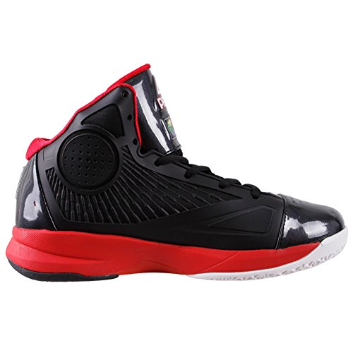 PEAK Mens FIBA Series SPEED EAGLE Basketball Shoes Black/Red 2xKa7
