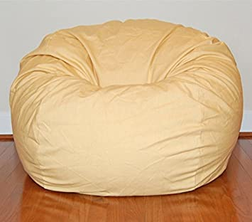 Ahh Products Cotton Washable Bean Bag, Marigold Yellow, Large