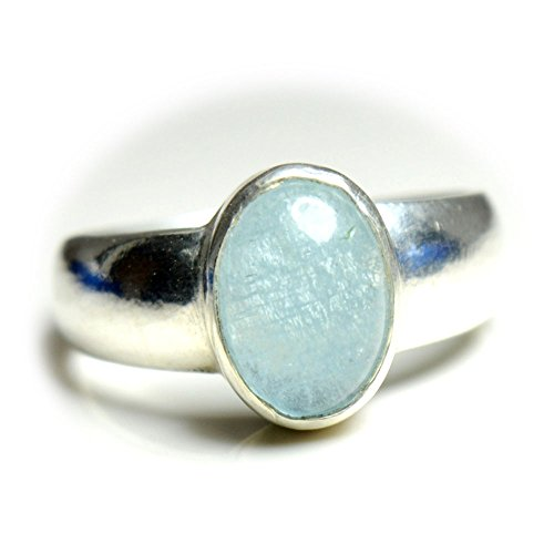 55Carat Natural Aquamarine Silver Ring For Men 3 Carat Oval Birthstone Size 4,5,6,7,8,9,10,11,12,13