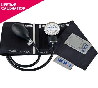 best blood pressure monitor, blood pressure gauge, blood pressure meter, best blood pressure meter, best blood pressure gauge, MDF® Calibra Aneroid Sphygmomanometer - Lifetime Calibration Warranty - Blood Pressure Monitor with Adult Sized Cuff Included - Black (MDF808M-11)