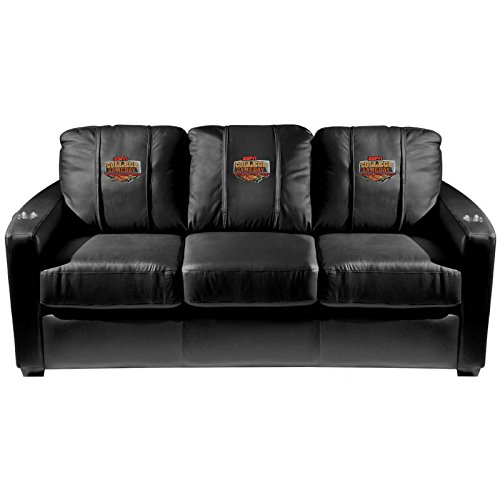 XZipit Silver Sofa with ESPN College Basketball Logo Panel, Black