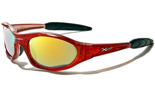 Etui Adulte X Protection Deluxe Conduite Taille Soleil UV400 Case Deluxe Inclus Rouge Etui Moto 'Extreme' Loop avec 100 Sport de Unique Cyclisme Ski Vault Lunettes 6r4Ywq6