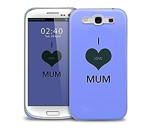 i love mum purple Samsung Galaxy S3 GS3 protective phone case