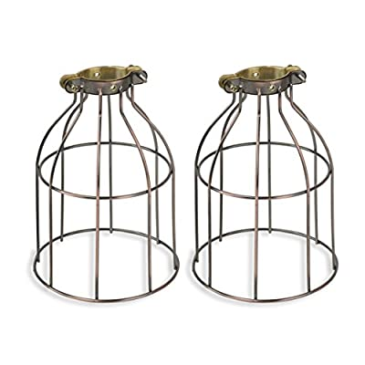 Rustic State Industrial Vintage Style Curved Top Light Cage for Pendant Light Lamps